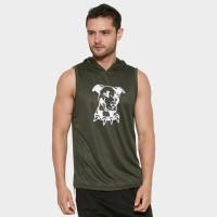 DONSON Hoodie Singlet Sleeveless Tank Top Dog Army YD