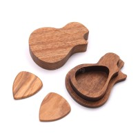 R & L Holder Pick Gitar Bahan Kayu