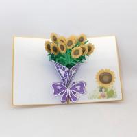 Kartu Ucapan Desain Bunga Sunflower 3D untuk Pesta Valentine