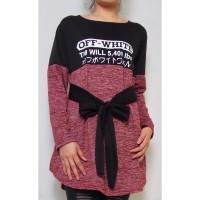 Kaos Tunik SABLON / Atasan Wanita ukuran besar murah BAHAN WAFEL MOTIF