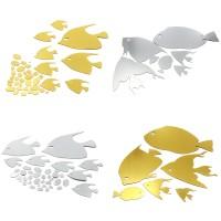 '' 1Pc DIY Stiker Dinding dengan Bahan Mudah Dilepas dan Gambar Ikan