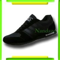 Sepatu Sekolah Adidas Neo City Racer Runner Full Hitam Black Man Pria