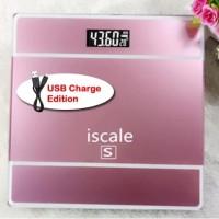 Timbangan Badan Digital iScale Indicator Body Scale 180kg Temperatur