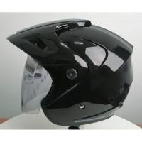 Cargloss CX Cargloss Helm Half Face - BLACK MET