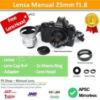 Lensa Manual Fujian 25mm F1.8 II-U Olympus Lumix Sony Nex Fuji X EOSM