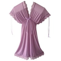 Gaun Tidur Lingerie Baju Tidur Wanita Sexy Piyama Lace transparan a352 - Putih, All Size