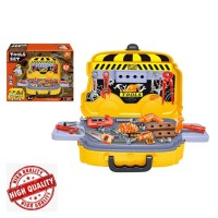 Pretend Toys Tools Sets 2-in-1 Tool Car 27 pcs Mainan Engineer Palu
