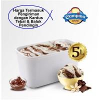 Ice Cream Vanilla Choco 5 Liter Campina