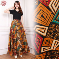 Mitha Rok lilit batik maxi payung panjang Fit to XL