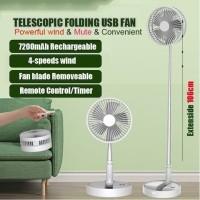 P9S Kipas Angin Lipat Fan Portable Usb Dengan Remote Control Timer