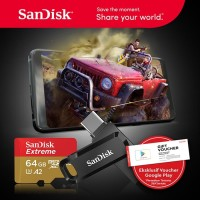 Sandisk OTG Type C GO 64GB USB 3.1 + Microsd Extreme 64GB 100mb/s A2