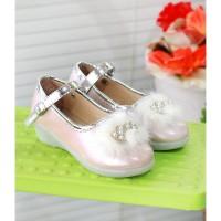 sepatu pesta hak anak perempuan 5-12 tahun pita bulu SAP04A