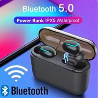 HeadsetBluetooth Q32With Powerbank Box Earphone ganda/Earphone tunggal