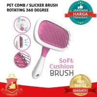 Sisir Bulu / Shedding Slicker Brush Anjing Kucing Hewan 360° Rotating