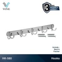 VONE HK-580 Gantungan Baju Handuk Kapstok Hanger Dinding Stainless