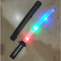 Mainan Pedang Plastik Samuari Lampu Cosplay Katana Bersuara Pedang