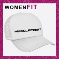 Topi Trucker Muscle First cocok untuk Olahraga / Casual Outfit - Putih