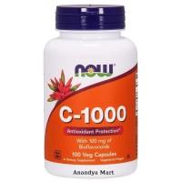 Now Foods C 1000 C1000 C-1000 Vitamin Vit C isi 100 Tabs Rose Hips Hip