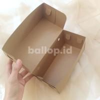 Box Kraft Dus Coklat Dos Kotak Kue Roti Roll Tart Cake 22 x 10 10 CM