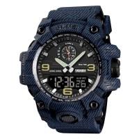 Jam Tangan Pria / SKMEI 1586 Analog Digital / Jam Tangan Denim Blue