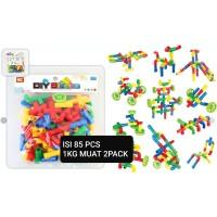 MAINAN EDUKASI LEGO PIPA ISI 85PCS 1KG MUAT 2 PACK