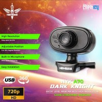NYK Nemesis A70 Dark Knight HD 720P Streaming Webcam with Microphone