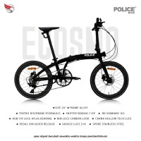 Sepeda Lipat ELEMENT ECOSMO 11 BLACK POLICE