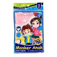 Masker Medis Fit U Mask earloop Anak 3 Ply Isi 5 Pcs BFE Kemenkes RI