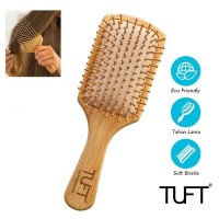 TUFT Bamboo Friendly Hair Brush Square / Sisir Rambut