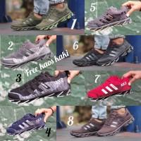 Adidas Springblade size 39 - 43 sepatu pria abu sekolah hitam