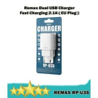 Remax RP-U35 Dual USB Travel Charger Adapter Fast Charging 2.1A