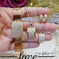xuping set perhiasan lapis emas 22a19