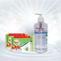 Atria Paket APD Hand Sanitizer 500ml + Tisu Basah Paseo