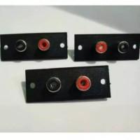 Soket RCA 2Pin Body Biasa - Socket Rca 2 pin Murah