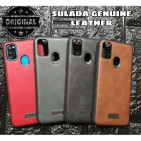 SAMSUNG GALAXY M21 M215 SULADA GENUINE LEATHER ORIGINAL HARD SOFT CASE