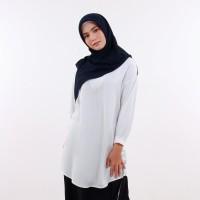 Queensland Blouse Kemeja Putih Lengan Panjang Muslim Wanita B10107Q