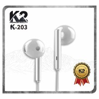 [GROSIR] HEADSET / HANDSFREE K-203 K2 PREMIUM QUALITY STEREO BASS