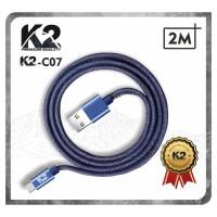 [GROSIR] Kabel Data DENIM 2M K2-C07 K2 PREMIUM QUALITY TYPE C