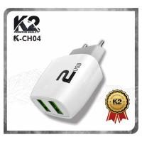 [GROSIR] Adaptor Charger K2-CH04 K2 PREMIUM QUALITY 2PORT USB