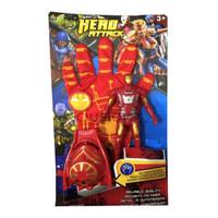 Sarung Tangan Iron Man - Spiderman - Captain America - Koleksi Figure - Merah