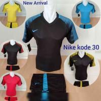 Jersey Bola Baju Futsal Kaos SepakBola / Seragam Tim Bola Nike Putih 3