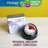 Timer Dapur Mekanikal Timer Masak Mekanik Magnetic Oven Magnet Hitam