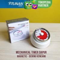 Timer Dapur Magnet Timer Masak Mekanikal Timer Mekanik Putih Magnetic