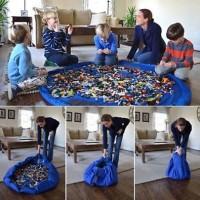 Kantong Mainan Lego Storage Bag Toys Organizer Matras Bermain Lego