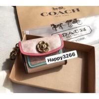 Coach Camellia Mini Wallet With Keychain - ORIGINAL GUARANTEE 100%