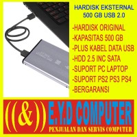 HARDISK EKSTERNAL 500GB USB 2.0 HDD HARD DRIVE EXTERNAL NB HD 500 GB