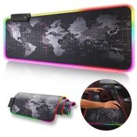 Gaming Mouse Pad XL 40x90cm LED RGB Peta Dunia