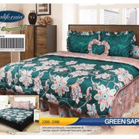 Bed Cover Set California 180x200 motif Green Saphire