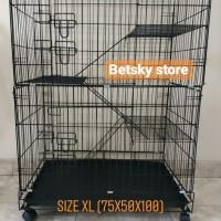kandang kucing size besar 3 tingkat(75x50x100)
