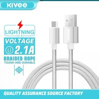 Kivee Kabel Data USB 2.0 Android USB Fast Charging 2.1A CT011-1C - Silver